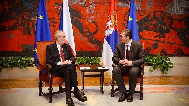 Czech president stirs anger after asking if he can withdraw recognition of an independent Kosovo