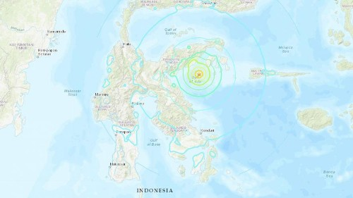 Tsunami warning lifted in Indonesia after 6.8 magnitude earthquake off coast