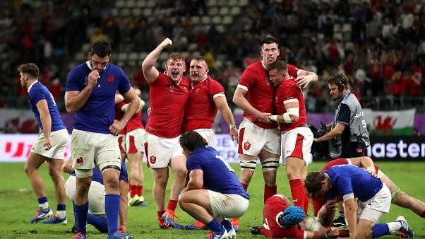 Wales moves on to Rugby World Cup semi-finals after defeating France by one point