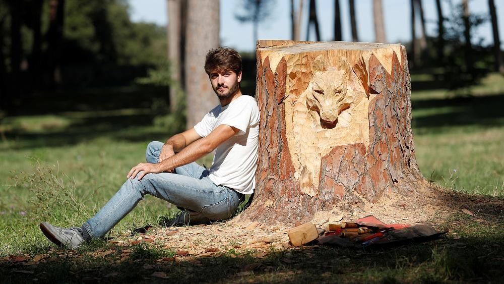The young artist turning Rome's trees into astonishing sculptures