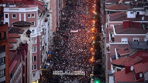 Mass rally calls for end to Spain's dispersion policy for ETA prisoners