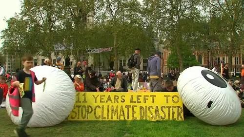 Klimademos in London gehen weiter