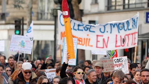 French public sector strikes to protest cuts