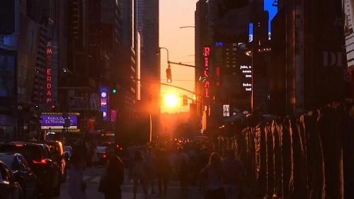 O pôr-do-sol de Manhattan