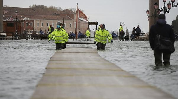Floodwaters engulf Venice again 3 days after near-record high tide