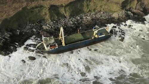 How did this mysterious 'ghost ship' wash up on the Irish coast?