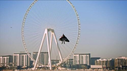 One step closer to autonomous human flight: Jetman flies 1,800m above
