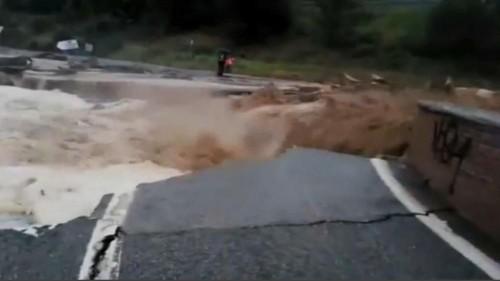 Chuvas intensas no norte de Espanha