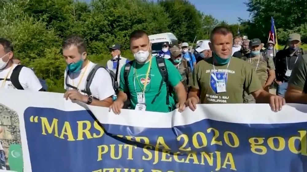 Srebrenica: Überlebende des Massakers nehmen an Friedensmarsch teil