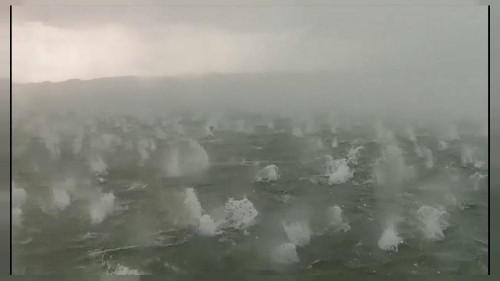 Stunning hail balls hit Lake Ammersee near Munich