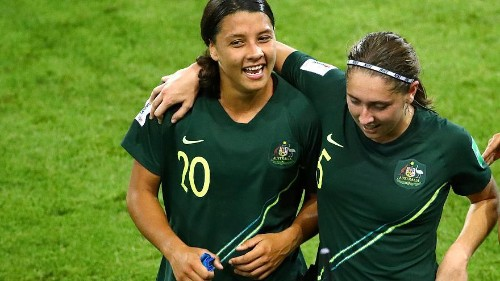 Sam Kerr scores all four goals as Australia beat Jamaica 4-1