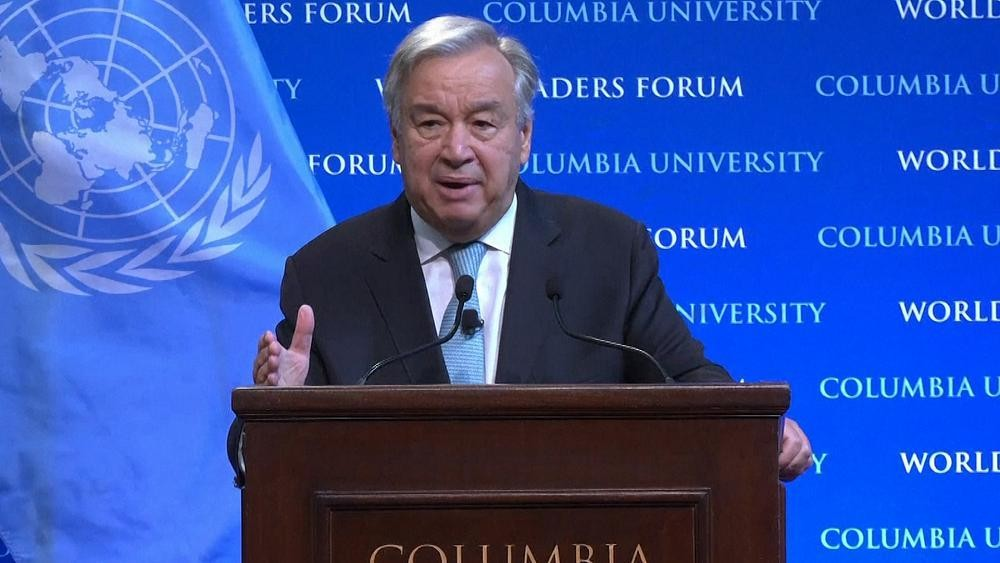 """UN Secretary-General Gutteres issues stark warning on """"state of the planet"""""""