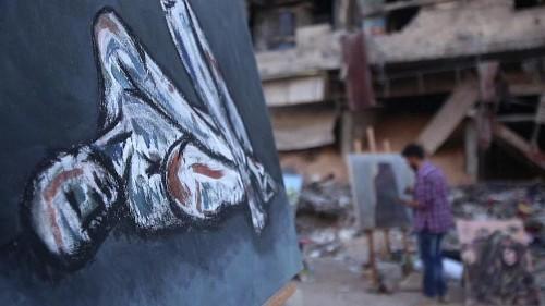 Des artistes au cœur des ruines de Damas