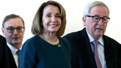 Watch Live: US Speaker of the House Nancy Pelosi speaks in Brussels after meeting with EU officials