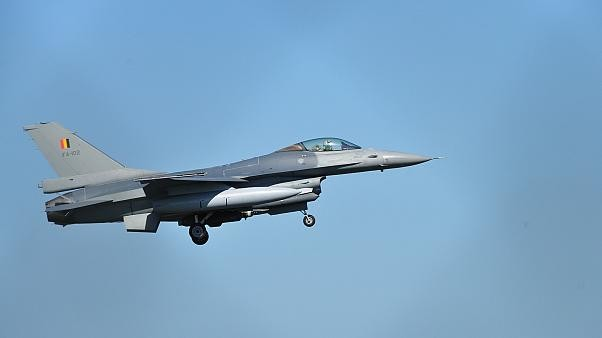 France F16 fighter jet crash: Pilot left dangling from powerline after parachute got caught