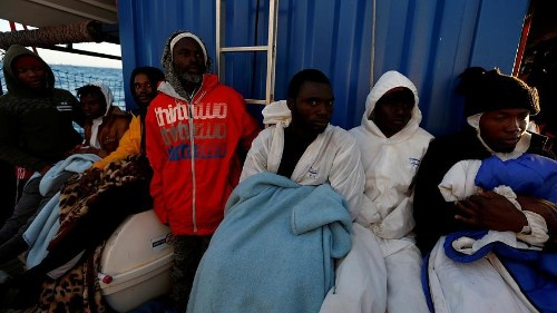 Four EU states agree to take in 64 rescued migrants stranded at sea