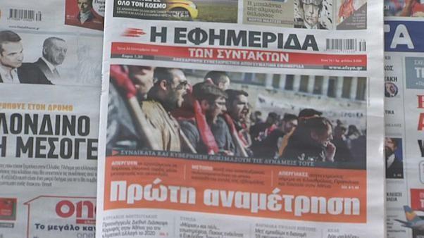 Watch: Greek civil servants strike to protect right to strike