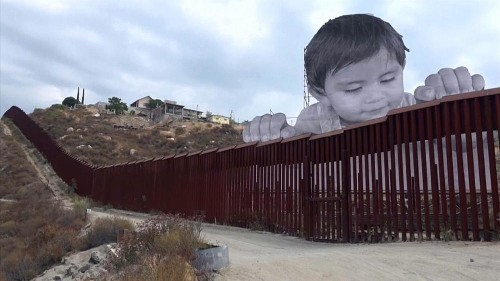 French artist takes on US immigration debate with border installation