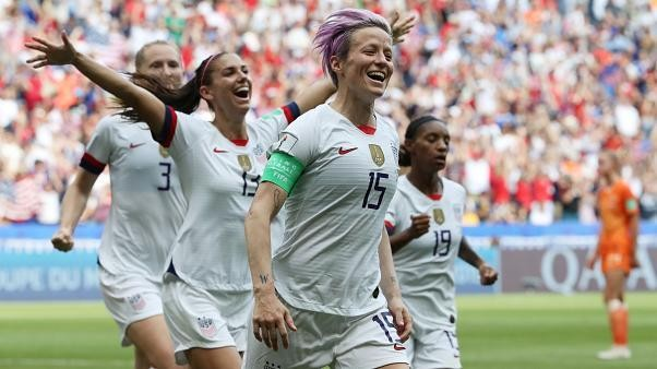 The United States beat the Netherlands 2-0 to win women's World Cup for a record-extending fourth time. Captain Megan Rapinoe converted a VAR-awarded penalty in the 61st minute and Rose Lavelle wrapped up victory eight minutes later