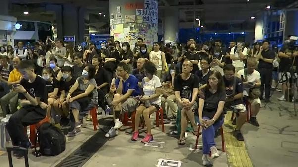 Watch live: Hong Kong sit-in at scene of mid-summer mob attack