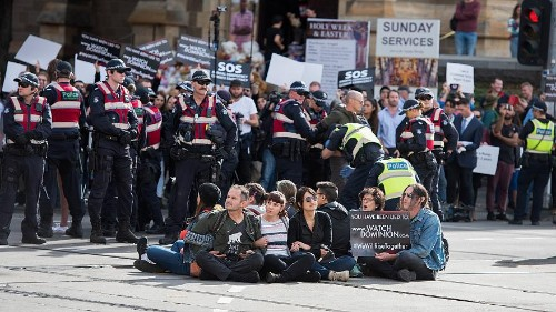 Animal rights activists arrested in Australia after traffic protest