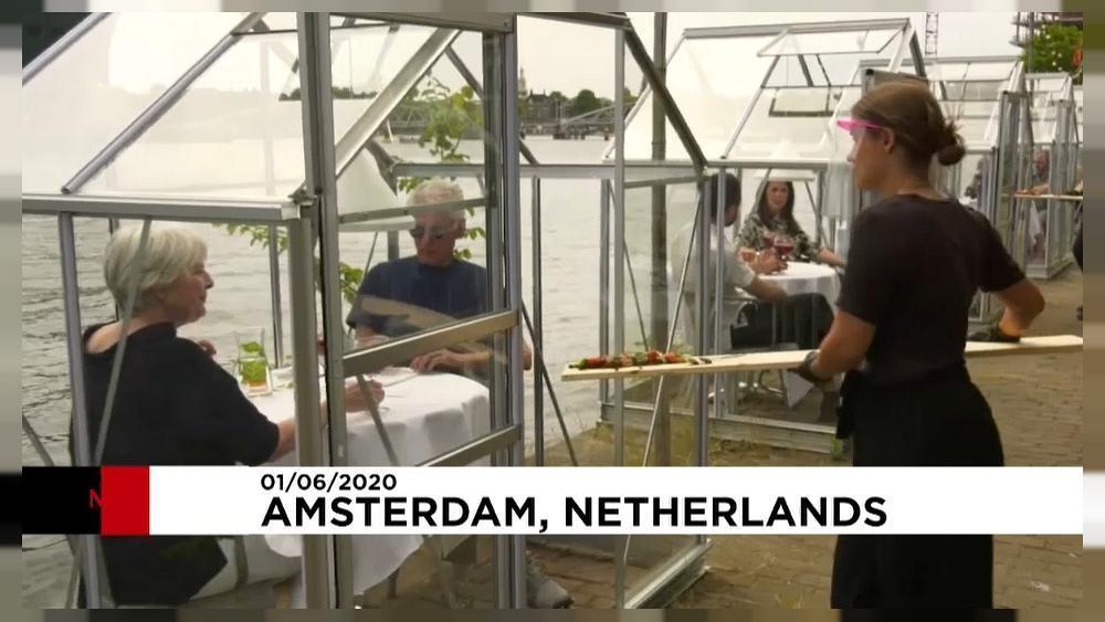 Speisen Sie im Gewächshaus in Amsterdam!