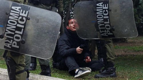 Ausschreitungen bei Protesten in Griechenland