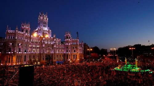 Indipendentisti in marcia a Madrid