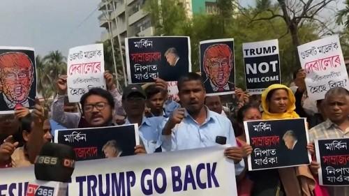 Indischer Protest gegen Trump