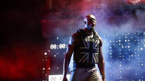 UK rapper Stormzy gives political Glastonbury performance with Banksy-designed stab-proof vest