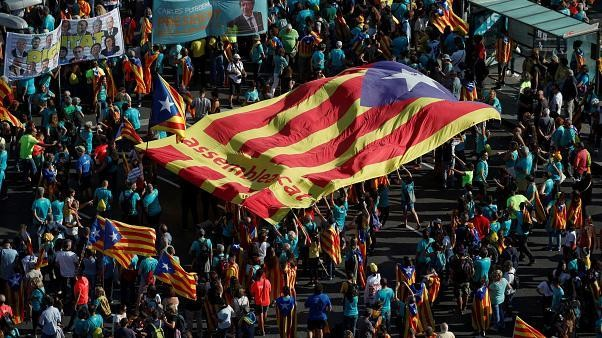 Watch live: Catalans march on anniversary of independence referendum