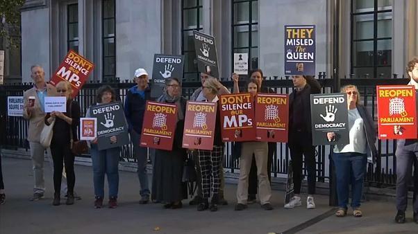 Johnsons Parlamentszwangspause in London vor Gericht