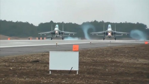 Russian warplanes arrive in Crimea