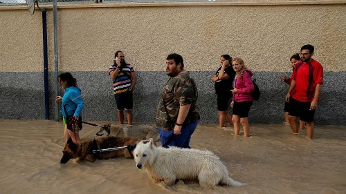 Dramatic baby rescue amid severe flooding in southeastern Spain