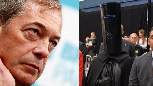 EU Elections: Lord Buckethead stands against Nigel Farage