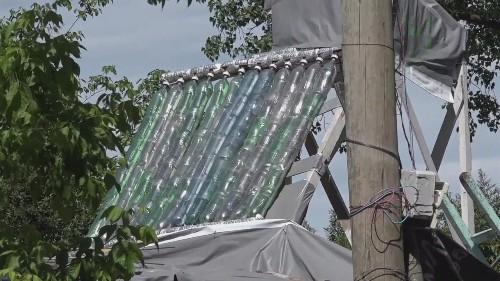 Creating solar energy from trash