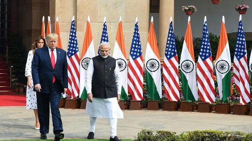 Trump tries to shift focus of India trip from spectacle to substance