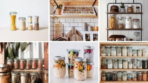 25 snaps of absolutely perfect 'zero-waste' kitchen shelves
