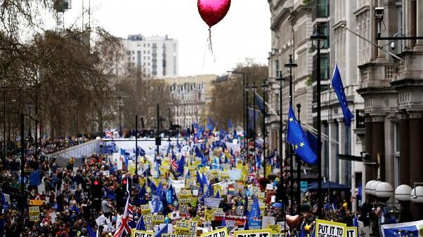Britain's People's Vote campaign calls for huge march against Johnson's Brexit deal