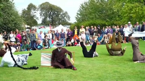 'Chap Olympiad' celebrates British eccentricities with umbrella joust