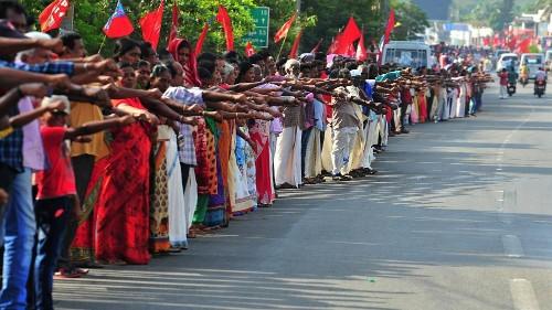 Indien: 7 Millionen bilden Menschenkette gegen Einbürgerungsgesetz