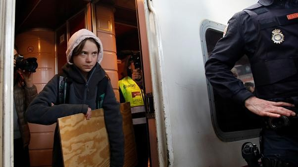 Greta Thunberg arrives in Madrid for climate summit after 4-week journey