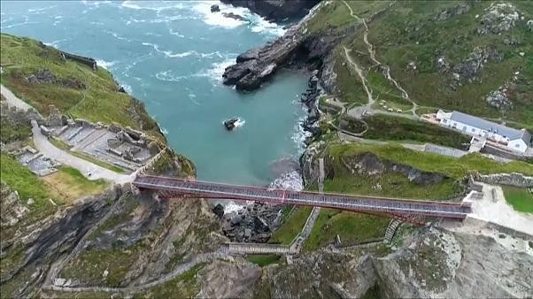 Watch: A new footbridge will reunite the two halves of Tintagel Castle