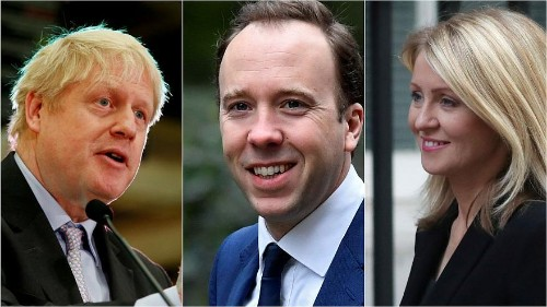 Hancock joins Boris Johnson and three others in race to replace May