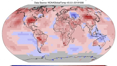 September 2019 was the hottest ever in North America