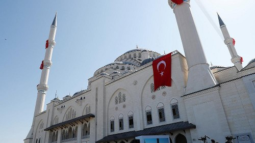 Erdogan officially opens Turkey's largest mosque