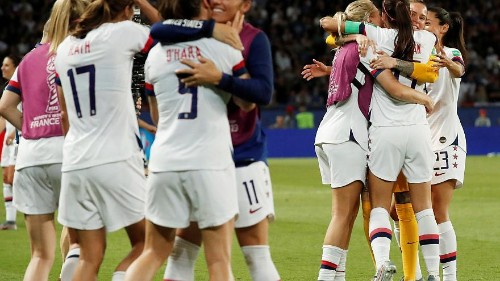 Rapinoe double takes US past France into semi-finals