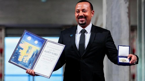 Ethiopian PM Abiy Ahmed receives Nobel Peace Prize in Oslo