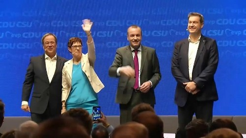 German CDU and CSU unite on common platform for European elections