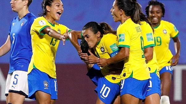 Brazil beats Italy 1-0, Marta becomes top scorer in world cup history